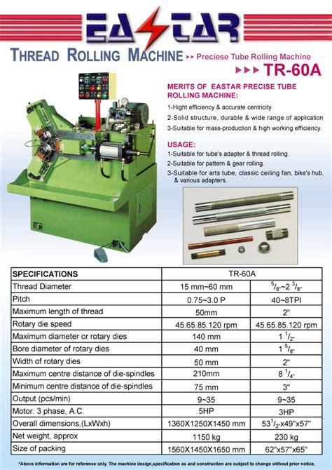 metal cutting machine tools threading rolling mctr