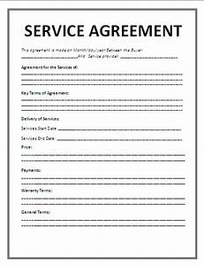 service agreement template agreement sample templates With agreement to provide services template