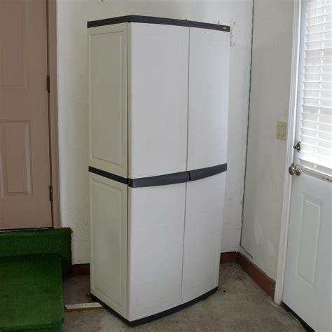 plastic shelf for kitchen cabinets workforce plastic storage cabinet ebth 9141