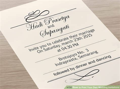 7 Ways To Print Your Own Wedding Invitations