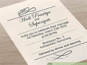 7 ways to print your own wedding invitations wikihow for Printing costs wedding invitations