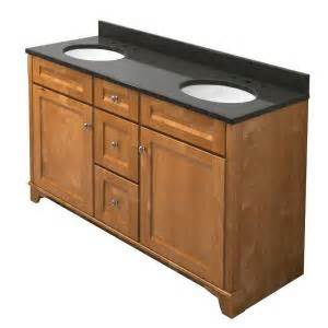 kraftmaid 60 in vanity in praline with natural quartz