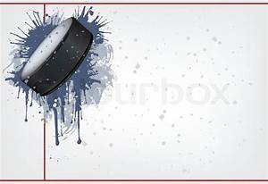 Hockey Puck On Ice Background  Vector  Computer Graphic