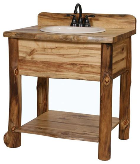 Single Sink Consoles Bathroom by Single Sink Open Vanity Rustic Bathroom Vanities And