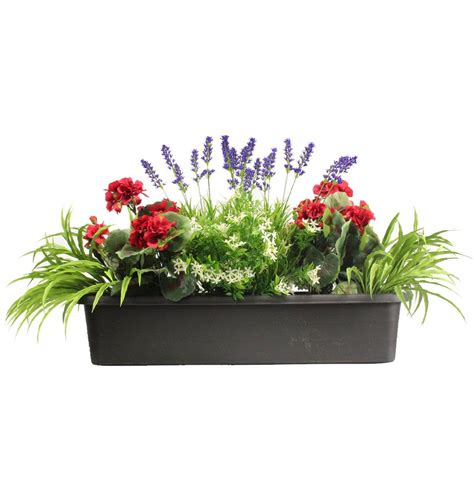 mixed flower window box   home flower window