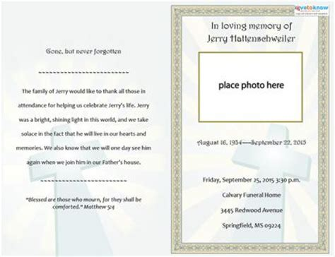 funeral announcement template free free funeral program templates