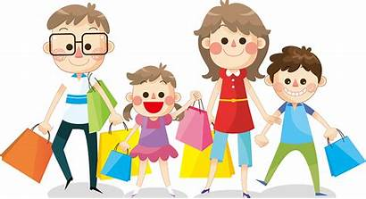 Clipart Shopping Happy Hold Cartoon Activities Bags