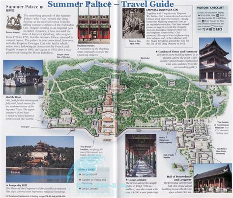 travel bureau summer palace travel guide maps pictures location layout