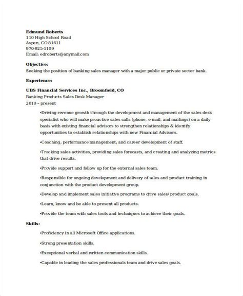 banking resume samples   word  documents