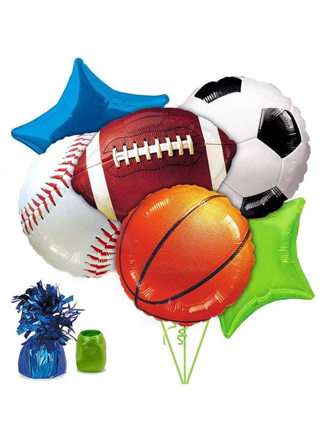 sports party balloon kit big night  sports themed