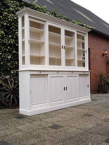 teak kast wit maken white wash winkelkast houten winkelkasten op maat