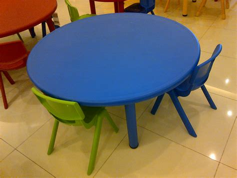 meja plastic bulat kecil mainan kayucom