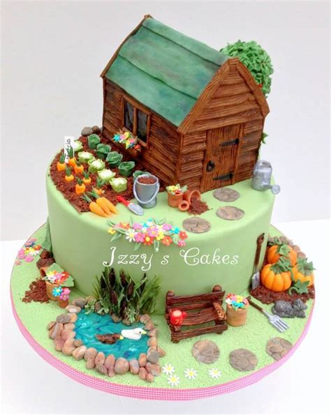 the 92 best images about garden themed cakes on