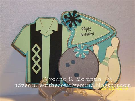 birthday cards bowler cricut card bowling mind adventure creative nifty fifties wobbles action