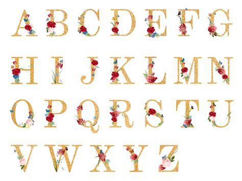 botanical alphabet  tropical flowers illustration   vectors clipart graphics