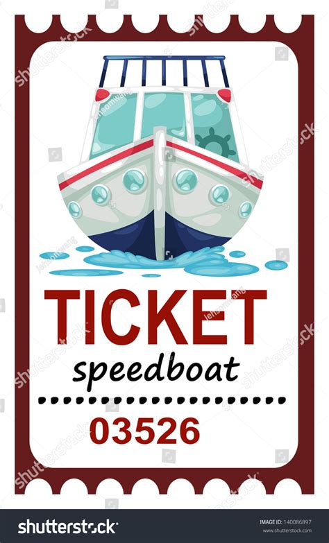 Boat Tickets by Illustration Isolated Ticket Speed Boat Vector Stock