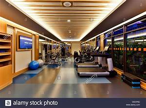 Fitness Center Interior Design. Beautiful Soft And Steel ...