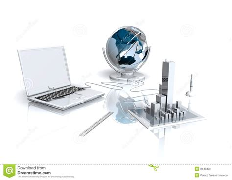 bureau virtuel photos stock image 3440423