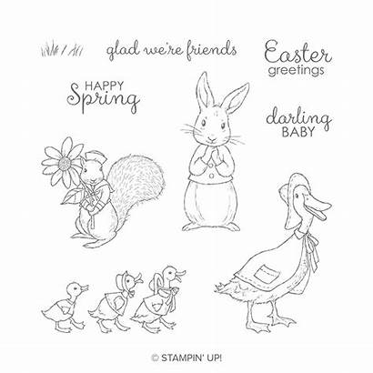 Stampin Friends Fable Stamp Cling