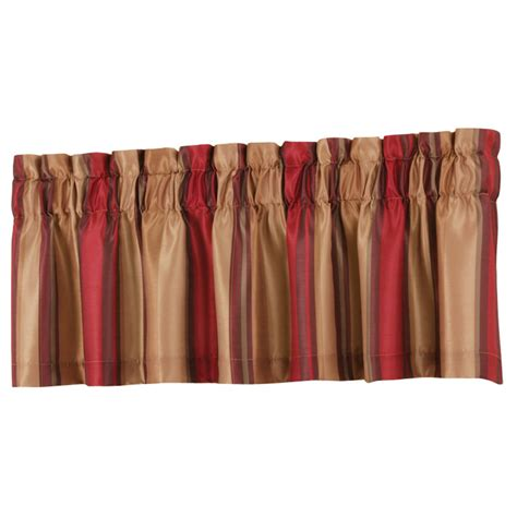 shop allen roth 18 in l alison tailored valance at