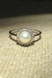 diamond and pearl engagement ring someday i39ll marry With pearl diamond wedding rings