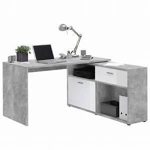 Eckschreibtisch Weiß Hochglanz : eckschreibtisch in wei grau online kaufen m max ~ Frokenaadalensverden.com Haus und Dekorationen