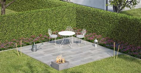 Runde Steinplatten Garten by Garten Sitzecke Grillplatz Gestalten Obi Gartenplaner