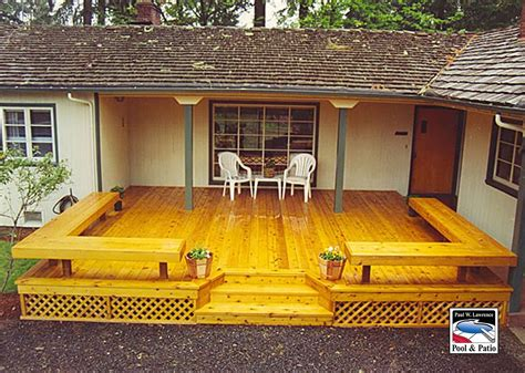 Patio Deck by Decks And Patio Construction Eugene Oregon