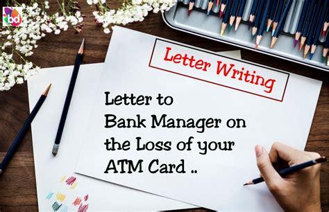 sample letter  block  lost atm card banking