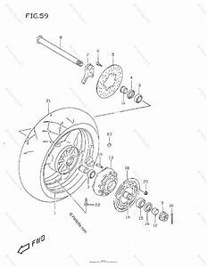 Suzuki Motorcycle 1999 Oem Parts Diagram For Rear Wheel