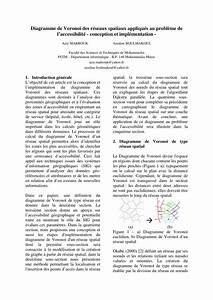 Pdf  Diagramme De Vorono U00ef Des R U00e9seaux Spatiaux Appliqu U00e9s