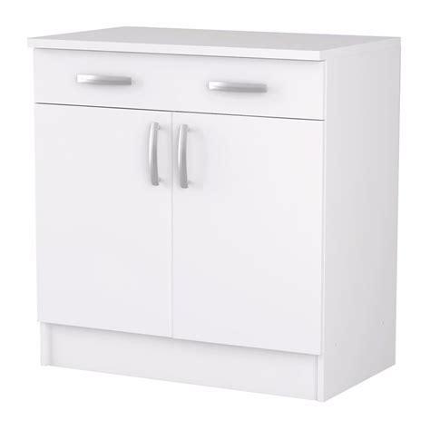 portes meubles de cuisine meuble de cuisine blanc bas 2 portes et 1 tiroir