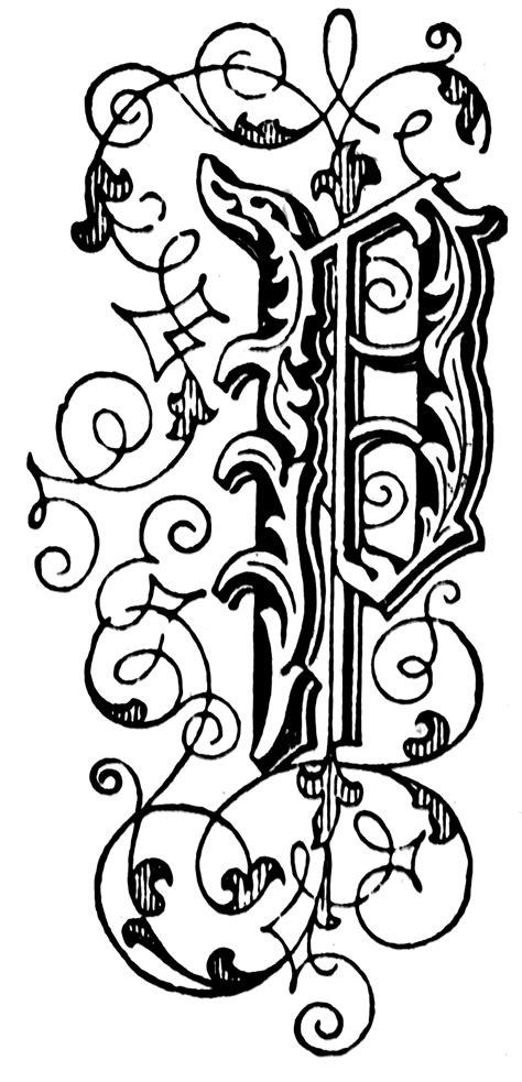 p floral letter clipart