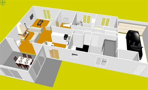 Sweet Home 3d Jouer Gratuitement : Plan Maison à étage Gratuit