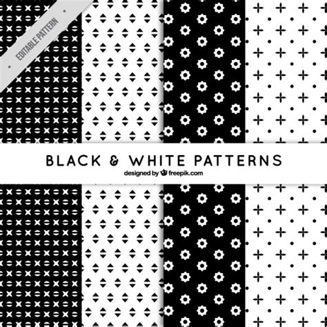 Abstract Shapes Black And White by Pattern Set Of Abstract Shapes In Black And White Vector