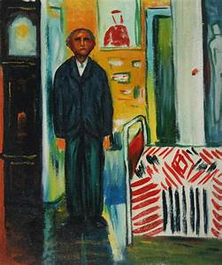 Self Portrait: Between Clock and Bed by Edvard Munch for ...