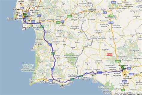 Seville To Lisbon Map