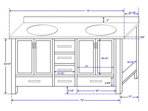 standard double sink size what is the standard height of a bathroom vanity paperblog