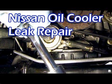nissan oil leak replace oil cooler  ring gasket