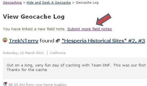 editing geocaching field notes using excel