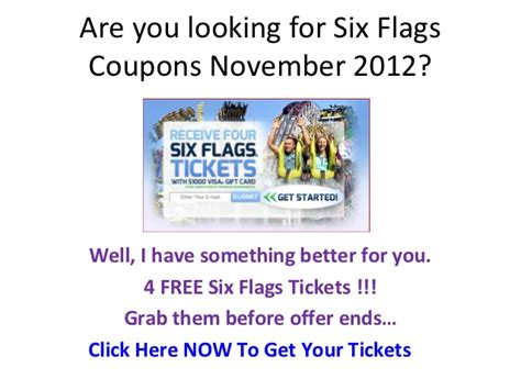 19928 Six Flags Tickets Coupons Discounts by Six Flags Coupons And Discounts