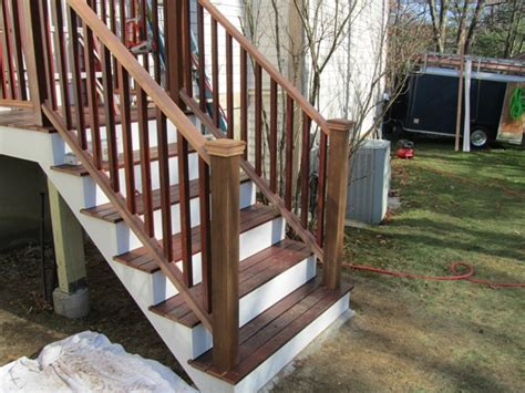 Porch Handrails by Installing Porch Railings A Concord Carpenter