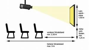 Berechnung Fernseher Abstand : gro es kino auf einer heimkinoleinwand der beste platz f r den projektor digitaleleinwand ~ Frokenaadalensverden.com Haus und Dekorationen