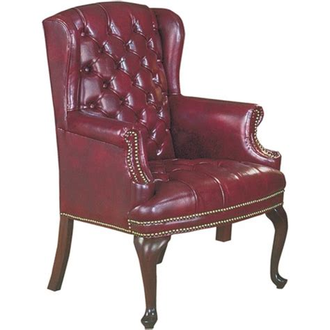 high point furniture traditional wing back chair tufted 4074