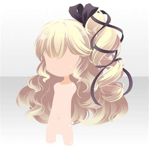 emotionally ornament games アットゲームズ anime hair curly bow