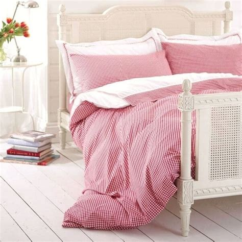 Red Gingham Bedding  Bed Linen