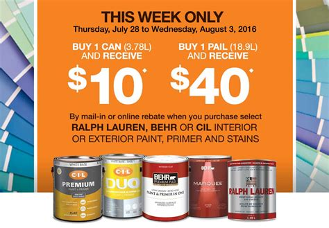 The Home Depot Save Up To $40 On Behr, Cil And Ralph