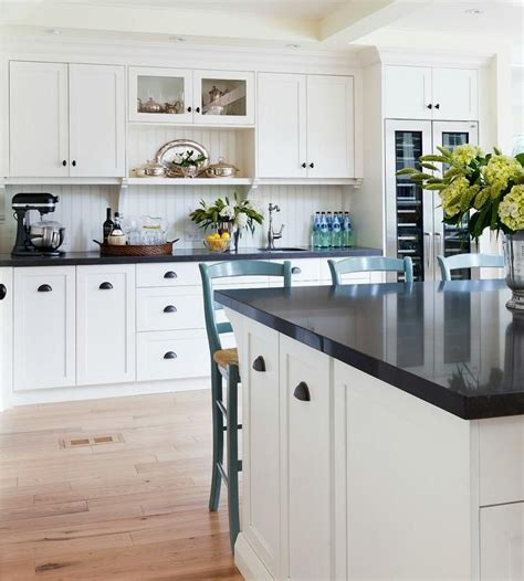 black beadboard kitchen cabinets two tone black and white kitchen features white 4648
