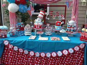 cat in the hat birthday cat in the hat birthday cake table cat in the hat