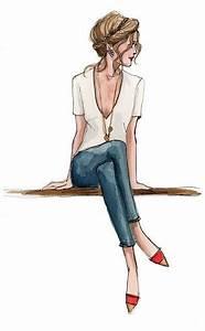 dessin jolie femme assise cheveux en chignon With amazing commenter obtenir les couleurs 3 photos de mode femme love
